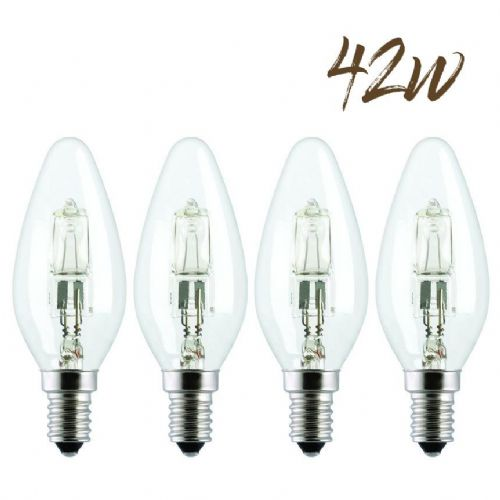 Halogen Energy saver SES Candle Lightbulb 42W (630 lumens) 4-Pack 803251
